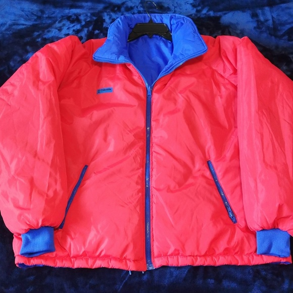 Columbia Other - Vintage Columbia Reversible Jacket Red/Blue